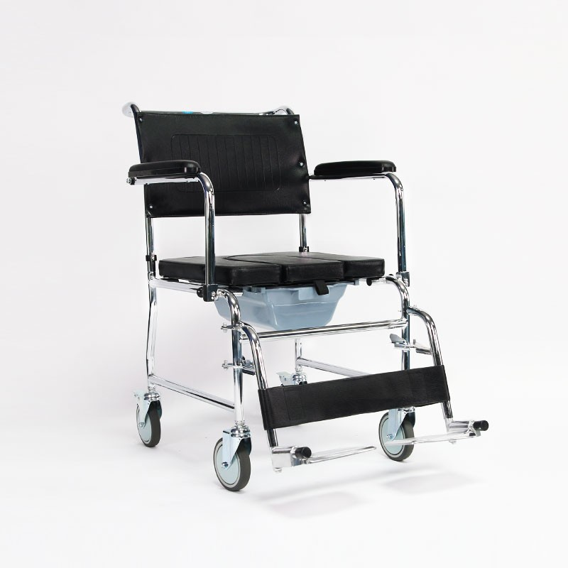 Hospital Drop Arm Toilet Chair For Patients