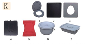 Commode Seat Cover & Pot