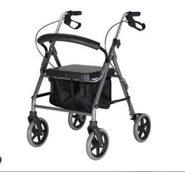 Light Weight Foldable Rollator With Seat