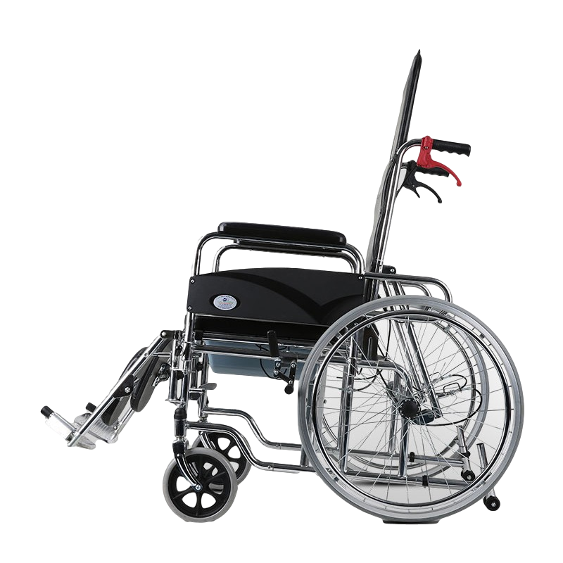 Steel Reclining High Back Commode Wheelchair Manufacturers, Steel Reclining High Back Commode Wheelchair Factory, Supply Steel Reclining High Back Commode Wheelchair