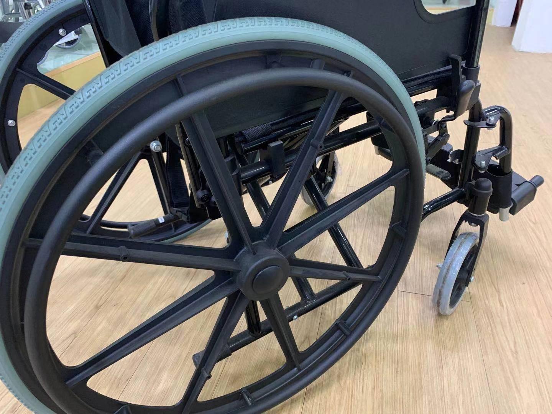 fold up steel manual wheelchair