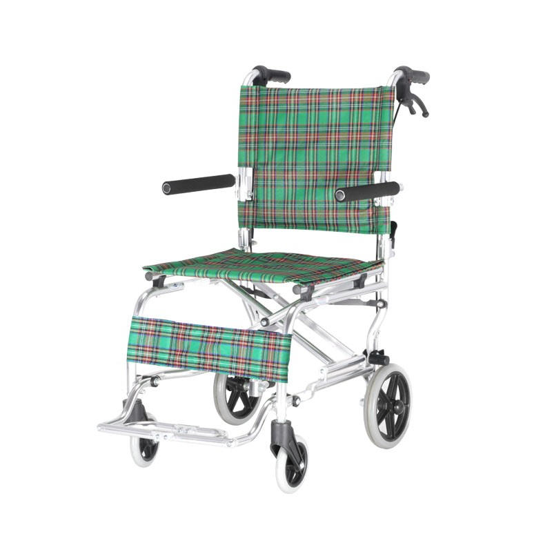 Hospital Aluminium Folding Transit Wheelchair