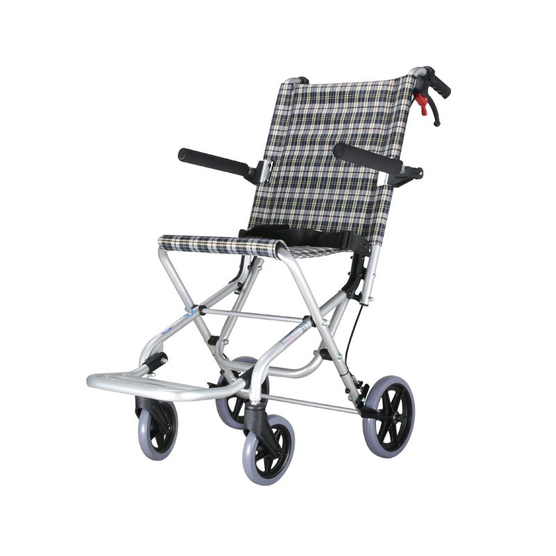 Aluminium Foldable Medical Transit Wheelchair