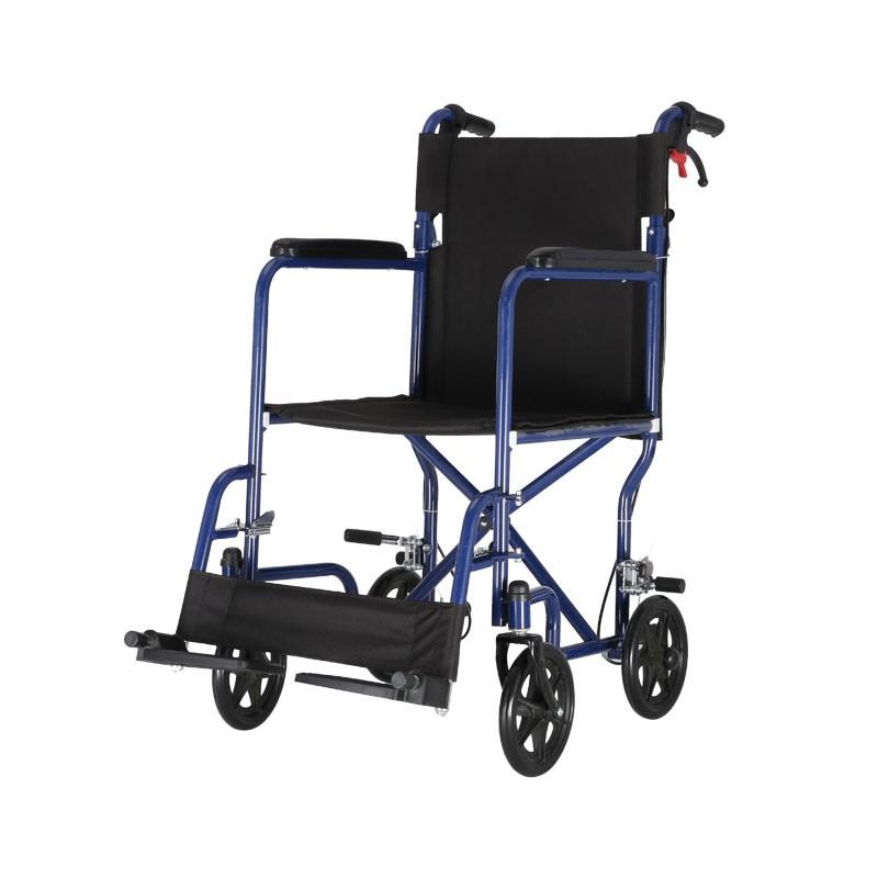 Steel Hospital Fold Up Wheelchair