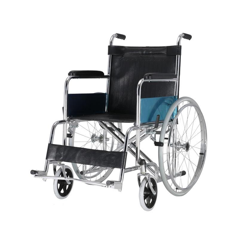 High Strength Steel Manual Wheelchair For Senior