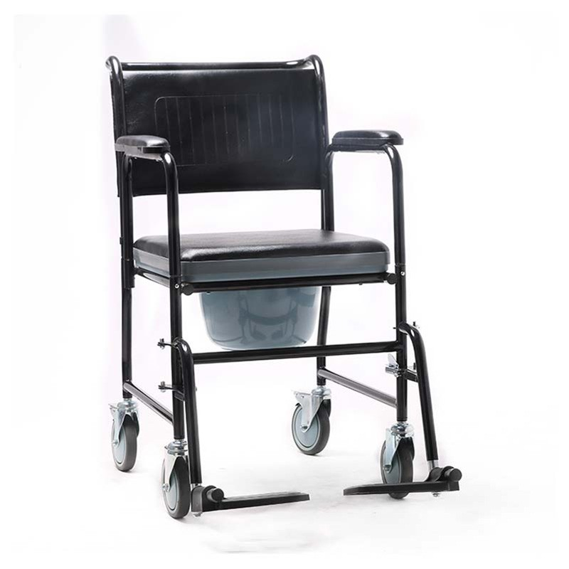 Medical Steel High Strength Commode Wheelchair