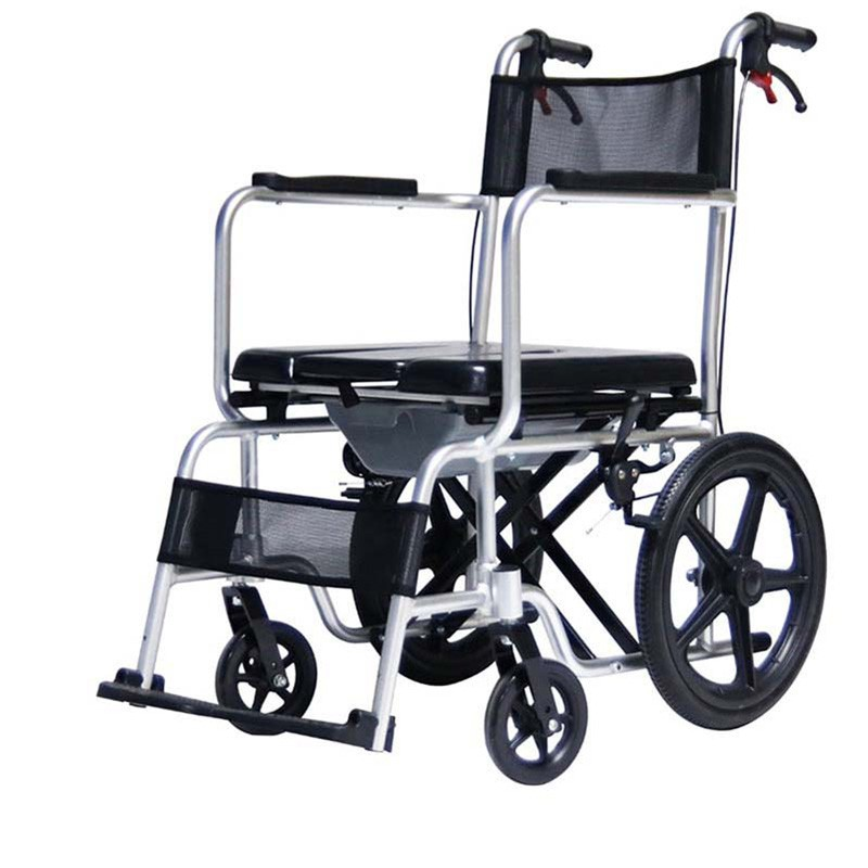 Hospital Commode Shower Chair With Wheels For Elderly