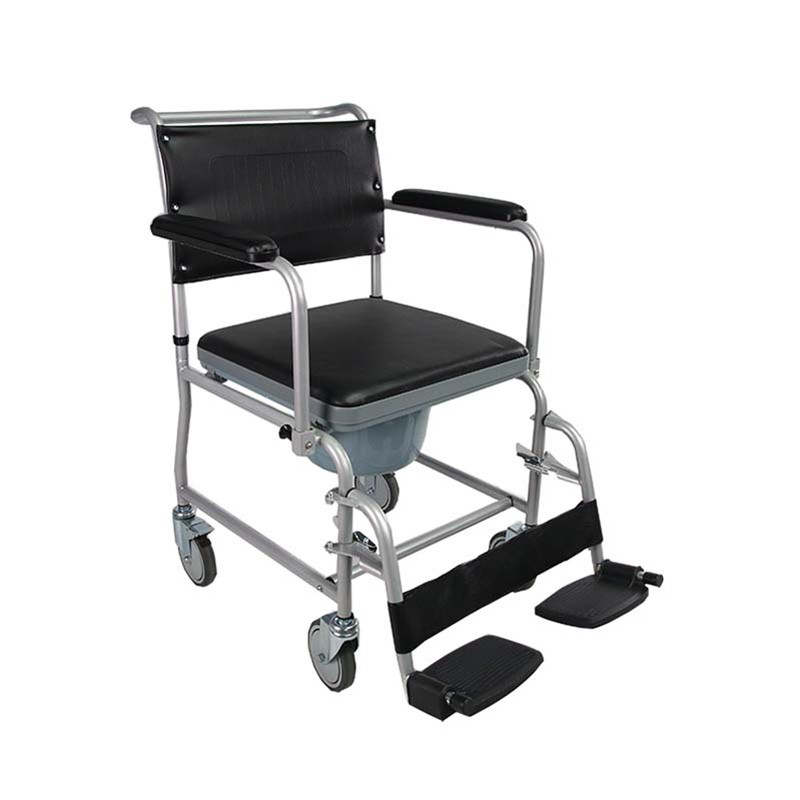 Economic Steel Hospital Commode Wheelchair