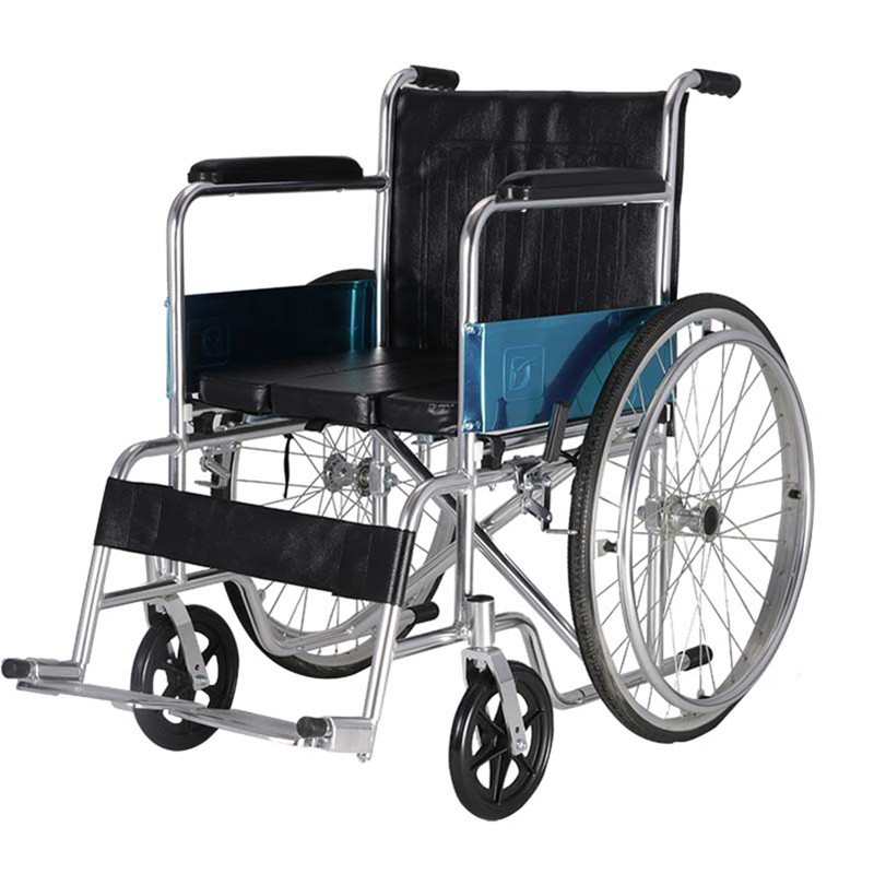 Aluminium Portable Commode Wheelchair For Elderly