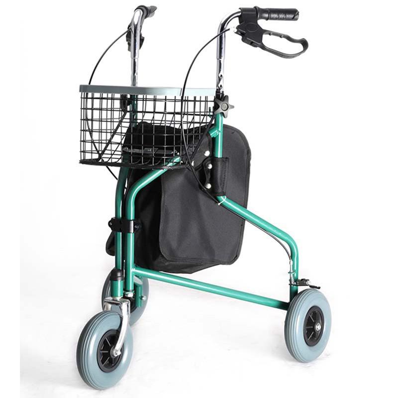 3-Wheeled Steel Foldable Rollator