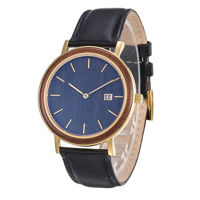 Engraved Wooden Face Stainless Steel Watch With Leather Band Manufacturers, Engraved Wooden Face Stainless Steel Watch With Leather Band Factory