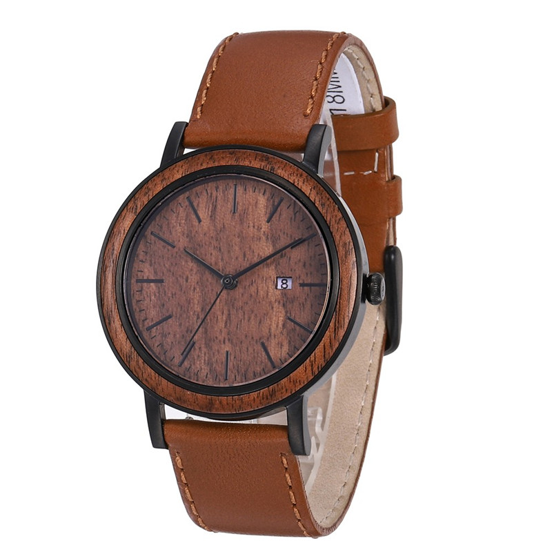 Original Stainless Steel Wooden Quartz Watch With Leather Band Manufacturers, Original Stainless Steel Wooden Quartz Watch With Leather Band Factory