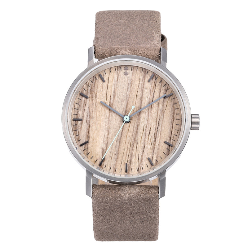 Leather Strap Wooden watch