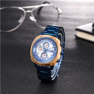 New Design Stainless Steel Wooden Watch