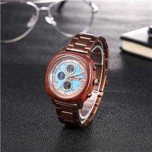 Cool Stainless Steel Wooden Watch In Wooden Gift Box