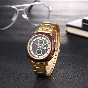 Custom Logo Stainless Steel Wooden Watch