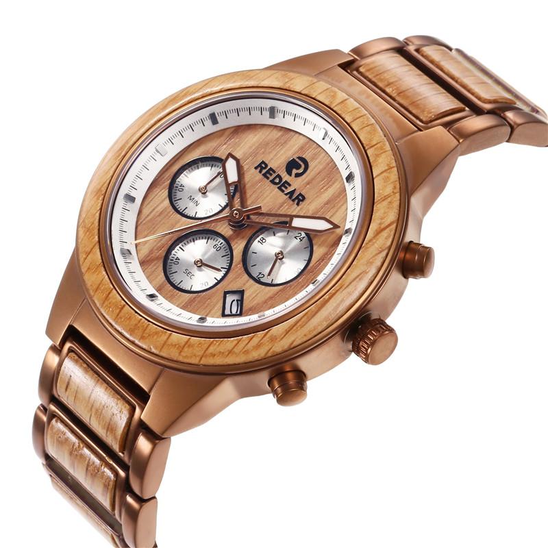 Luminous Stainless Steel Wooden Watch Manufacturers, Luminous Stainless Steel Wooden Watch Factory