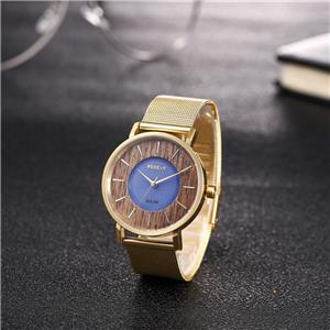 Ultra Thin Stainless Steel Wooden Watch