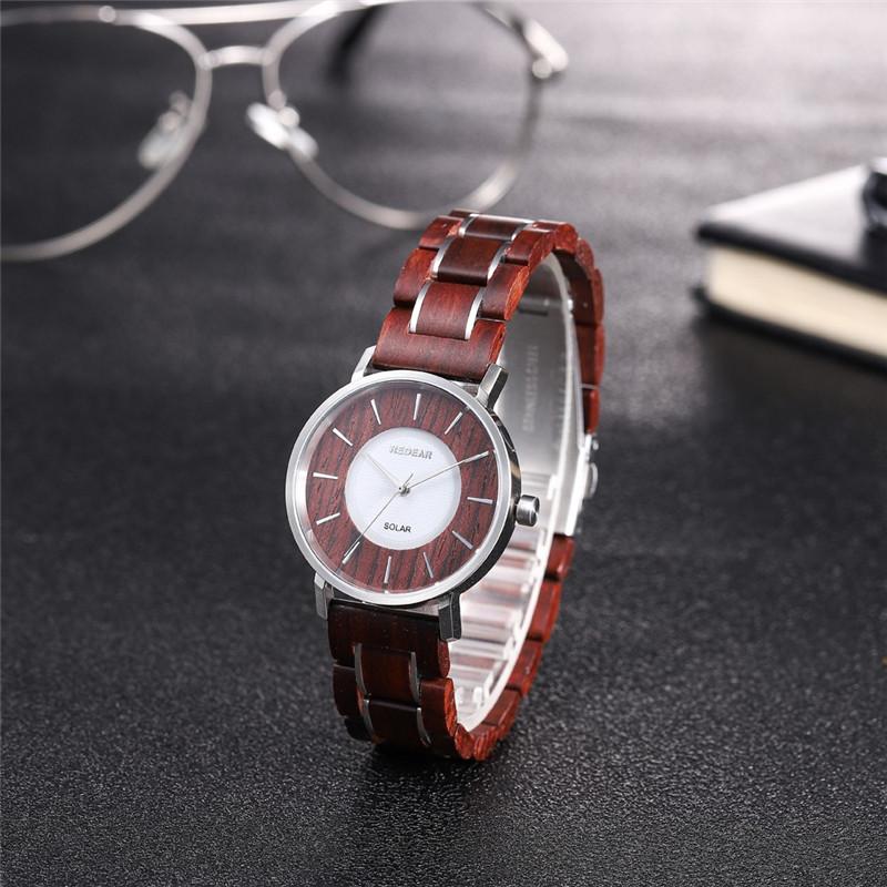 Zebra Wood Or Red Sandalwood Stainless Steel Wooden Watch