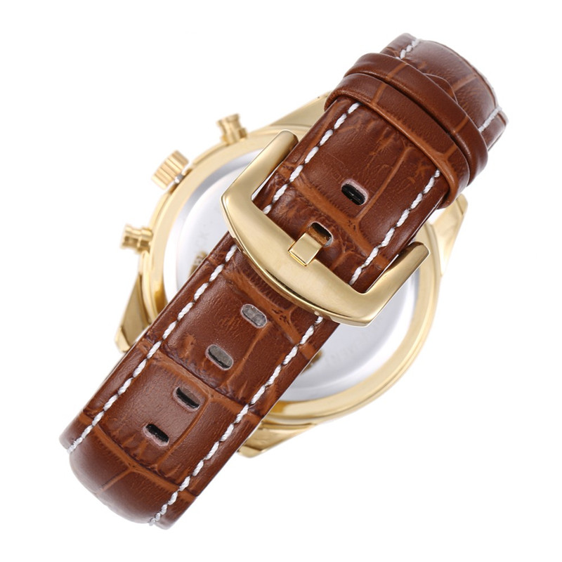 Automatic Men Leather Band Wooden Watch Manufacturers, Automatic Men Leather Band Wooden Watch Factory