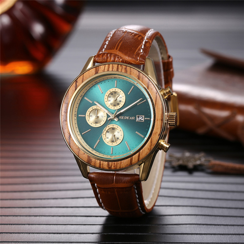 Automatic wooden watch