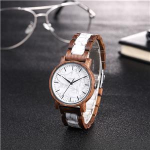 Display Fem,ale Quartz Marble Dial Watch