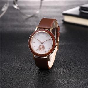 Waterproof Silver Leadwood Marble Watch