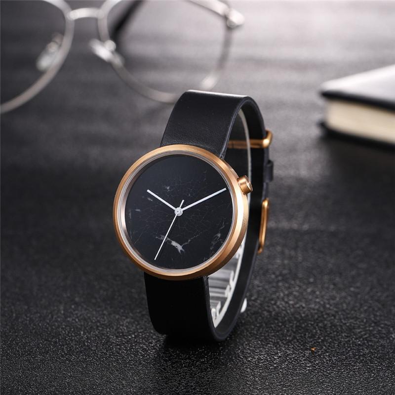 Elegant Genuine Quartz Marble Watches