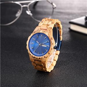 ساعة يد خشبية أوتوماتيكية من خشب البامبو