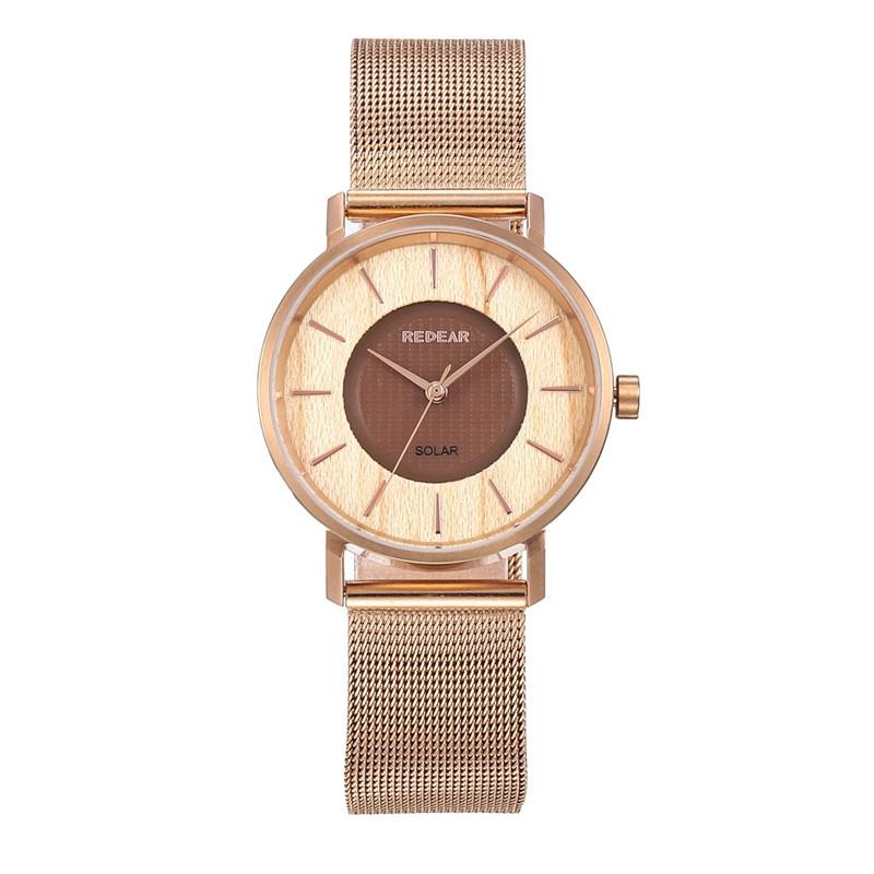 Ceasuri de mână cuarț pentru femei, cu bandă din plasă