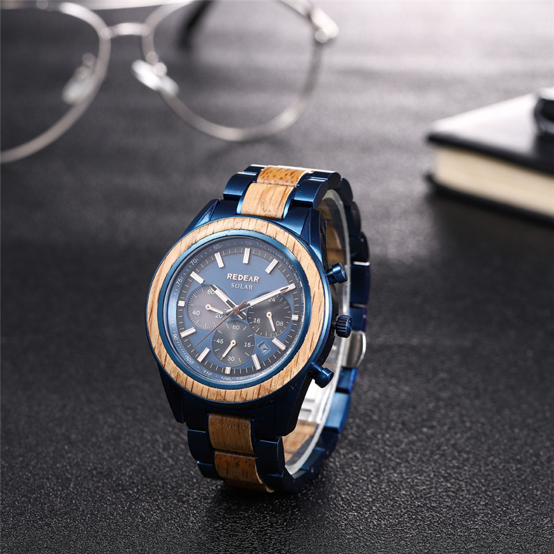 stainless steel genuine leather watch