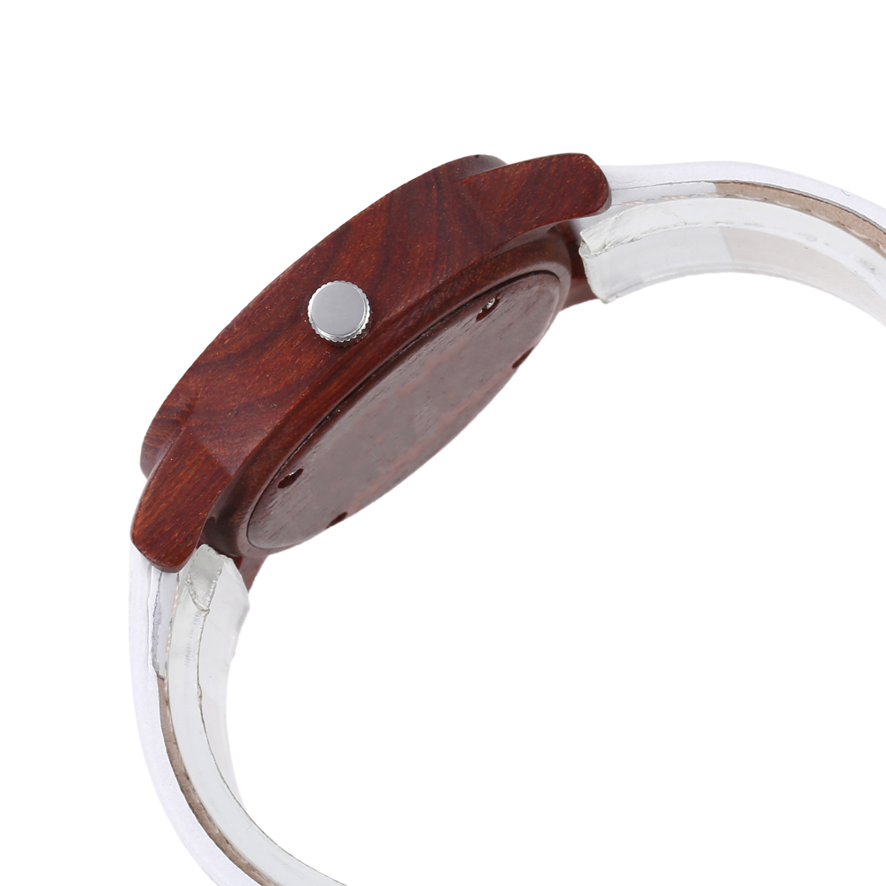 Unique Wooden Watch With Leather Band
