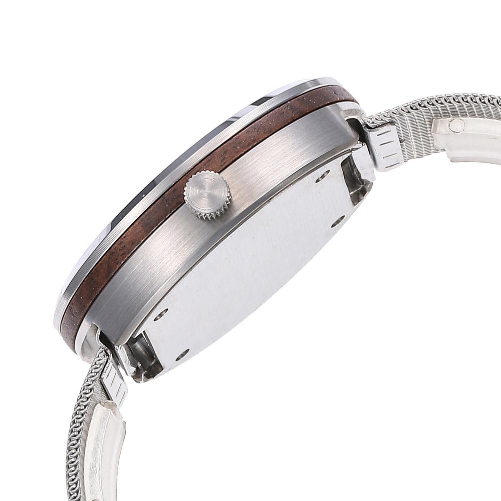 Minimalist Stainless Steel Walnut Sapphire Watch For Ladies Manufacturers, Minimalist Stainless Steel Walnut Sapphire Watch For Ladies Factory