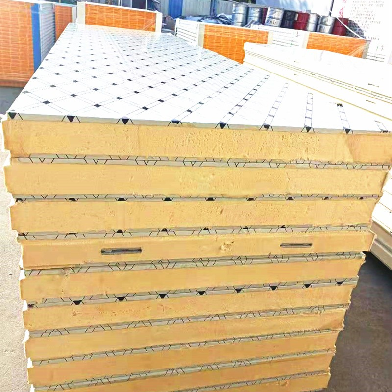 Medicine And Health Office Pu Panel Polyurethane Structural Insulated Sandwich Panel Roof 50mm Polyuretane