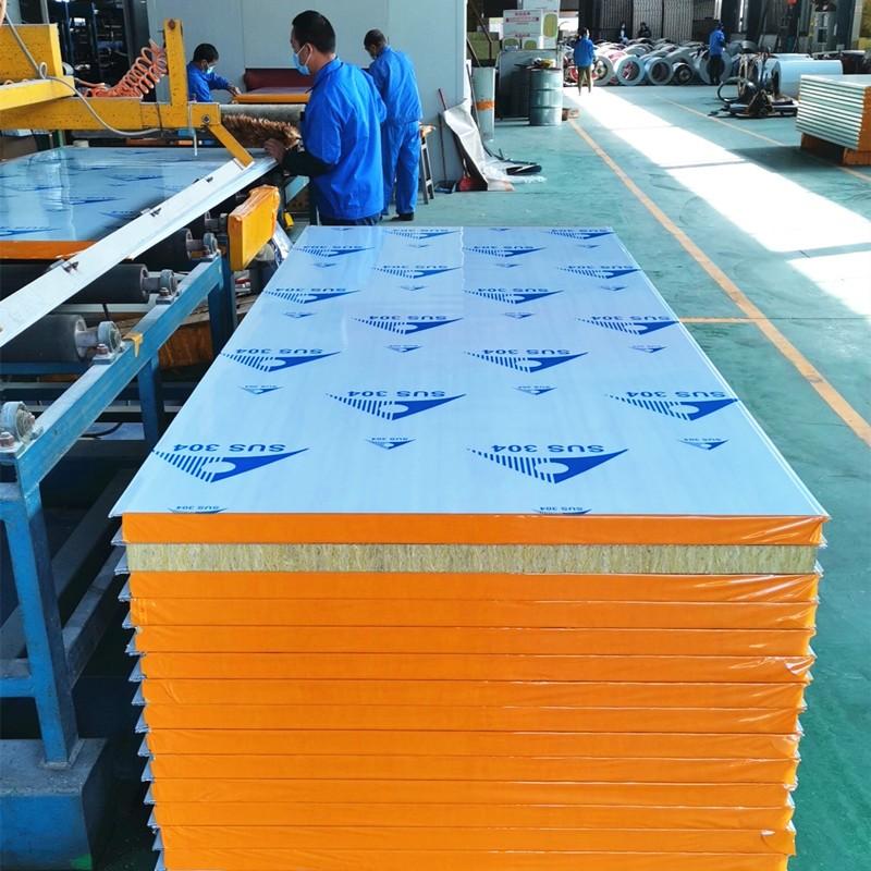 Custom Rockwool Stainless Steel Sandwich Panel Rockwool Acoustic Board
