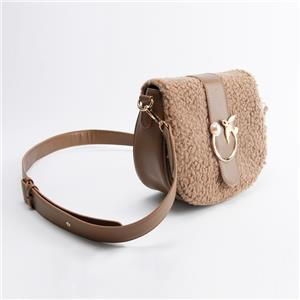 Womens Fashion Shoulder Sherpa Bag with Detachable Strap