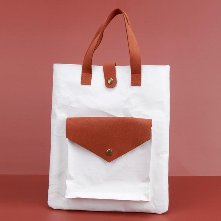 Kraft Shopping Ladies Shoulder Bag Knead Texture Tote Bag