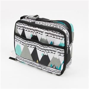 Dual Compartment Insulated Lunch Bag Thermal Bento Bag Cooler Bag