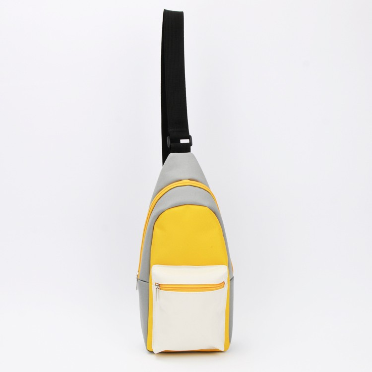 Sling Bag Canvas Chest Bag Unisex School Outdoor Pouch