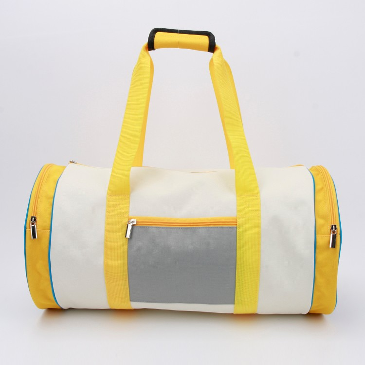 Gym Duffle Barrel Bag Travel Round Handbag Training Bag