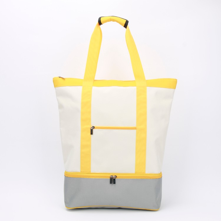 Large Canvas Tote Bag Double-deck Shopping Bag