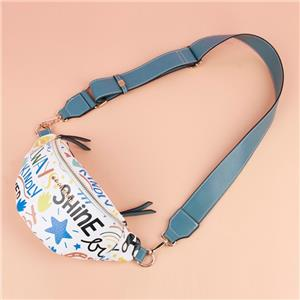 Hip Hop Personalized Graffiti Waist Fanny Pack PVC Bag For Girls