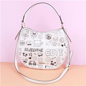 Black And White Graffiti Tote Bag Shoulder BagFor Women and Girls