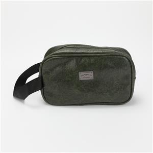 Blackish Green PU Leather Cosmetic Bag Soft Make-up Bag