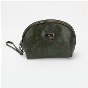 Shell-shape Mini Size Blackish Green Handbag Soft Cosmetic Bag