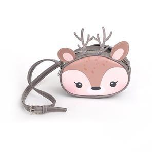 Adorable Sika Deer Animals Bag For Girls Taupe Shoulder Bag