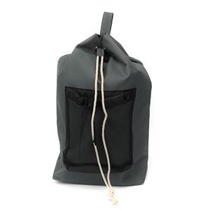 Omuz Askılı ve File Çantalı Gri Çamaşır Torbası Sırt Çantası