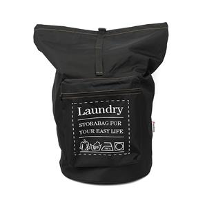 Fashion Gray Huge Laundry Bag Backpack with Letter Printing