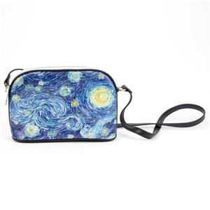 Starry Night Oil Painting Lady Bag Storage Hand Bag