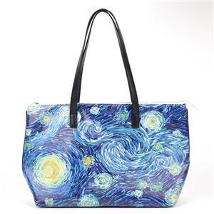 Starry Night Oil Painting Tote Bag Elegant Painting Sling Bag